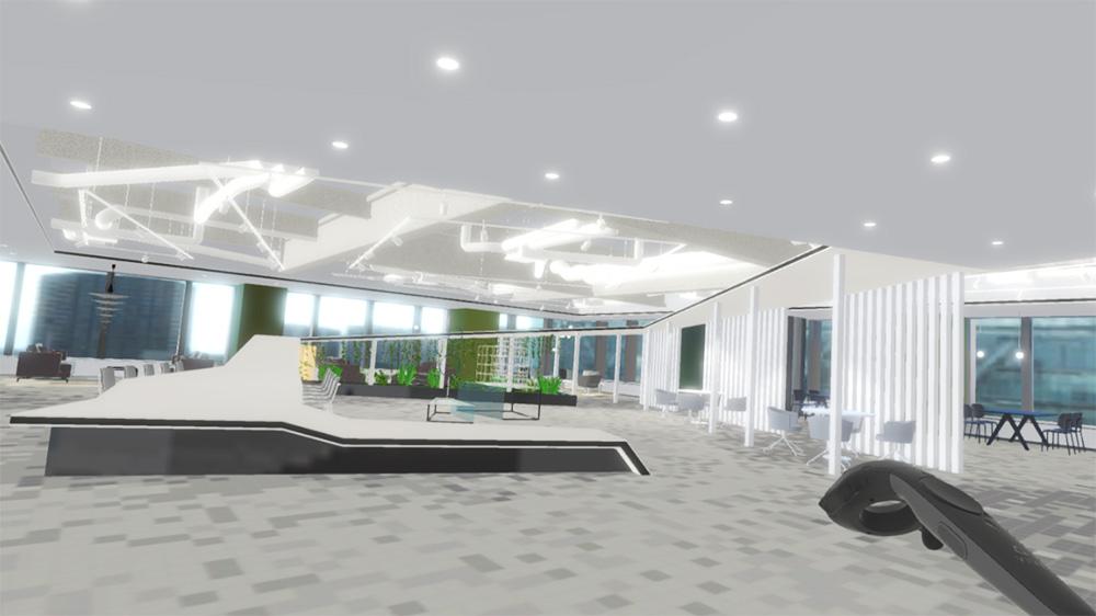 VRによるオフィス紹介(VR視界)