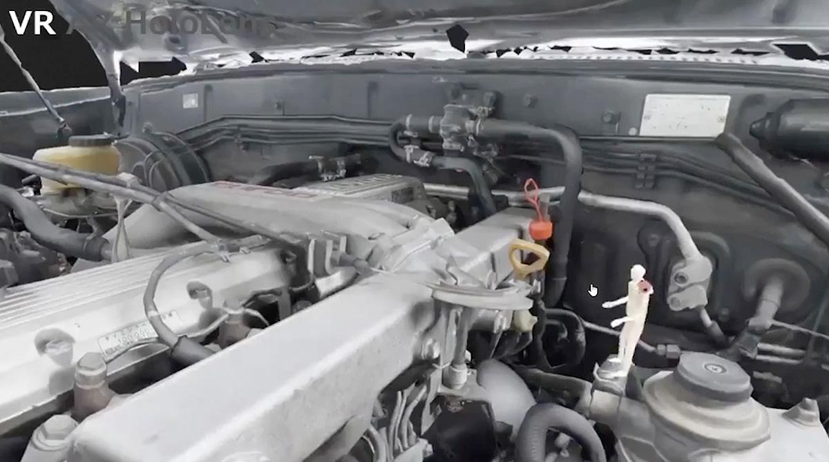 車のエンジンルームの可視化