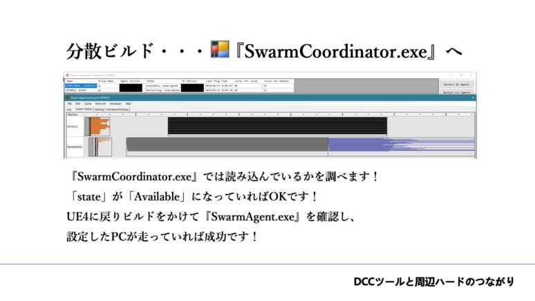 分散ビルド・・・「SwarmCoordinator.exe」へ