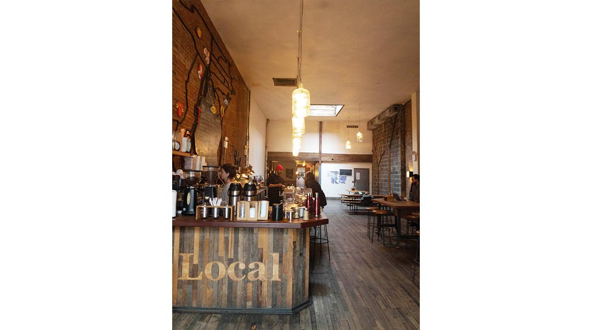 長谷川氏に指定されたブルックリンのお洒落なカフェスペース